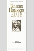 Bulletin Hispanique - Tome 120 - N°2 - Décembre 2018