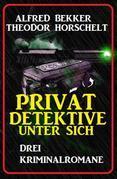 Privatdetektive unter sich: Drei Kriminalromane