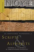 The Routeldge Handbook of Scripts and Alphabets