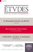 Revue Etudes : Reconstruire Notre-Dame