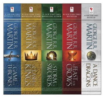 George R. R. Martin's A Game of Thrones 5-Book Boxed Set (Song of Ice and Fire Series): A Game of Thrones, A Clash of Kings, A Storm of Swords, A Feas
