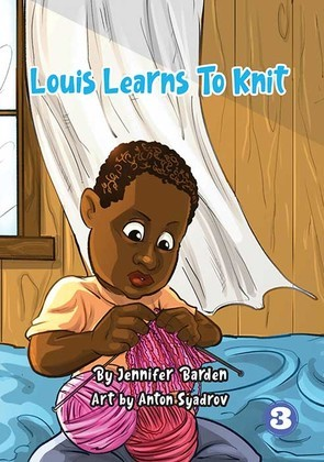 Louis Learns to Knit
