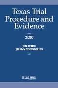 Texas Trial Procedure and Evidence 2020