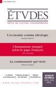 Revue Etudes - L'économie comme idéologie
