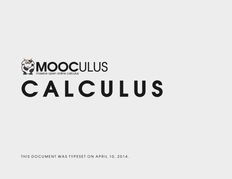 Calculus One