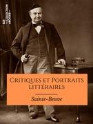 Critiques et Portraits littéraires