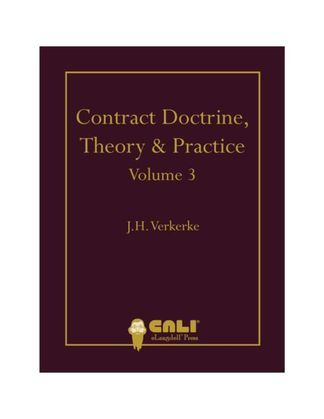 Contract Doctrine, Theory & Practice - Volume 3