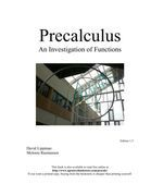 Precalculus: An Investigation of Functions