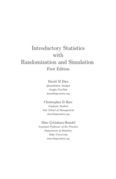 Introductory Statistics with Randomization and Simulation First Edition