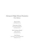 Advanced High School Statistics First Edition