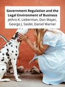 Government Regulation and the Legal Environment of Business