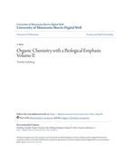 Organic Chemistry with a Biological Emphasis Volume II