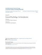 General Psychology: An Introduction