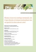 Phronesis. Vol. 8, numéro 3 & 4   2019. Professionnalisation et ingénierie de formation entre résonances et divergences