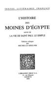 L'Histoire des moines d'Egypte