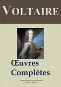 Voltaire : Oeuvres complètes et annexes - (142 titres, annotés)