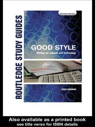 Good Style: Writing for Science and Technology