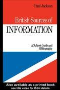 British Sources of Information: A Subject Guide and Bibliography
