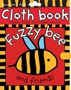 Cloth Book Fuzzy Bee -- APPLE