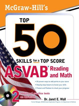 McGraw-Hill's Top 50 Skills for a Top Score: ASVAB Reading and Math: ASVAB Reading and Math with CD-ROM [With CDROM]