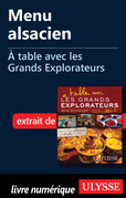 Menu alsacien - A table avec les Grands Explorateurs