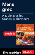 Menu grec - A  table avec les Grands Explorateurs