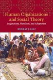 Human Organizations and Social Theory: Pragmatism, Pluralism, and Adaptation