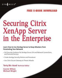 Securing Citrix XenApp Server in the Enterprise