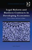 Legal Reform and Business Contracts in Developing Economies: Trust, Culture, and Law in Dakar
