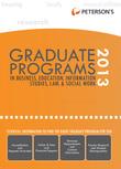 Graduate Programs in Business, Education, Health, Information Studies, Law & Social Work 2013 (Grad 6)