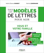 Tous les modles de lettres pour agir - Vous et votre famille