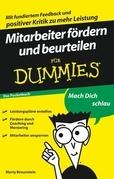 Mitarbeiter frdern und beurteilen fr Dummies Das Pocketbuch