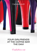 Four girlfriends at the coffee bar