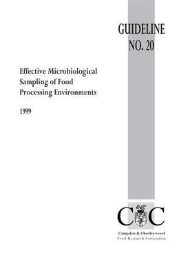 Effective Microbiological Sampling of Food Processing Environments