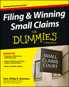 Filing and Winning Small Claims for Dummies