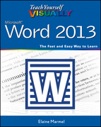 Teach Yourself Visually Word 2013