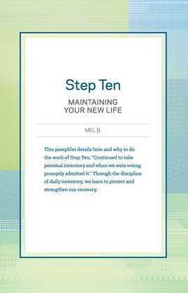 Step 10 AA Maintain New Life