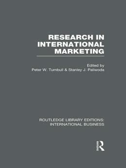 Research in International Marketing (Rle International Business)