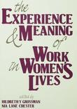 The Experience and Meaning of Work in Women's Lives