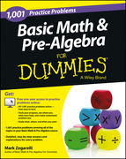 1,001 Basic Math and Pre-Algebra Practice Problems for Dummies