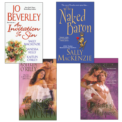 Hot Historicals Bundle with An Invitation to Sin, The Naked Baron, When His Kiss Is Wicked, &amp; Mastering the Marquess