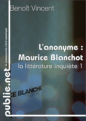 L'anonyme, sur Maurice Blanchot