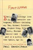First Words: Earliest Writing from Favorite Contemporary Authors