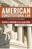 American Constitutional Law, Volume I: The Structure of Government