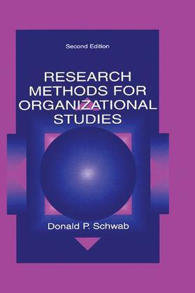 Research Methods for Organizational Studies