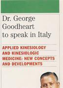 Dr. George Goodheart to speak in Italy