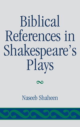 Biblical References in Shakespeare's Plays