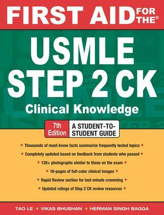 First Aid for the USMLE Step 2 CK, Seventh Edition