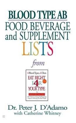 Blood Type AB Food, Beverage and Supplemental Lists