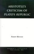 Aristotle's Criticism of Plato's Republic